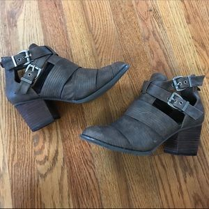 Brown Cut-out Ankle Bootie